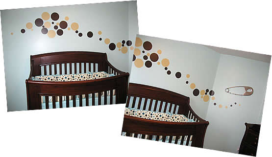 I Thought You Might Be Interested In What My Mom And Did With Your Dot Decals To Make Son S Nursery Look Amazing Thank