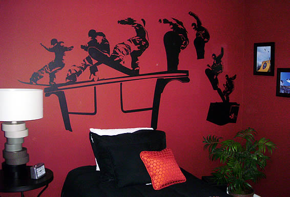 Cool snowboard wall stickers bedroom by katie - Dezign Blog