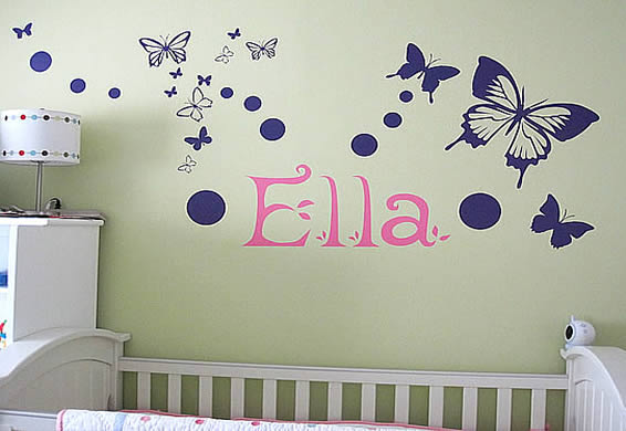 Decorate with words for the wall - wall letters - words wall