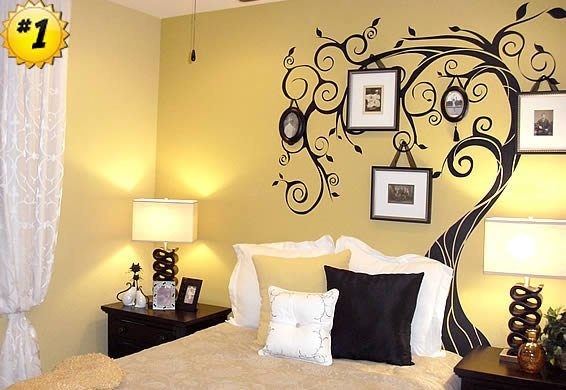 February photo wall stickers contest winner dezign blog Bedroom wall art