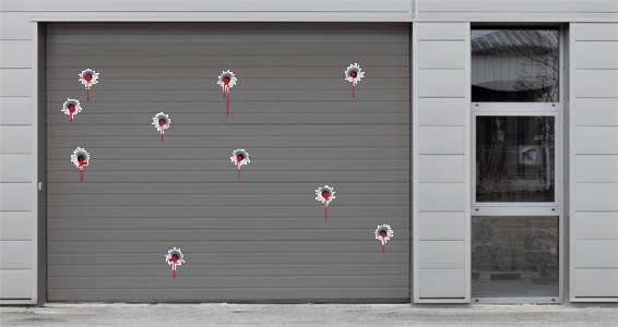 Bloody Bullet Holes wall decals pack