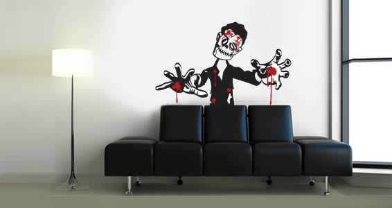 Bloody Zombie wall decal