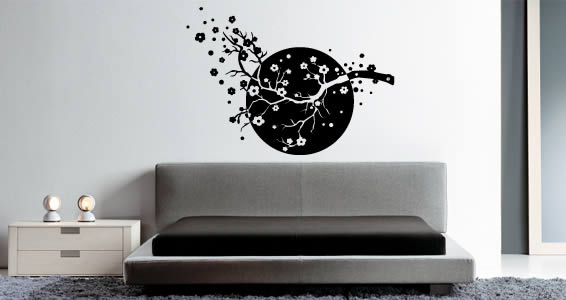 Sun Cherry Blossom wall decals