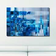 Blue Mosaic wall canvas