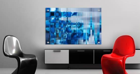 ... Blue Mosaic Art Dry Erase Plexiglass Stand Off & Blue Mosaic Art Dry Erase Plexiglass Stand Off | Dezign With a Z