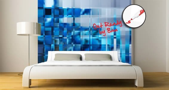 Modern Mosaic Dry Erase Furniture Skin Decals