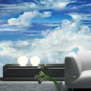 Blue Sky Clouds wall mural