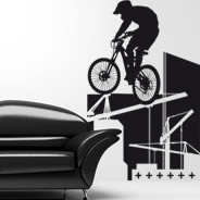 Biker wall decals