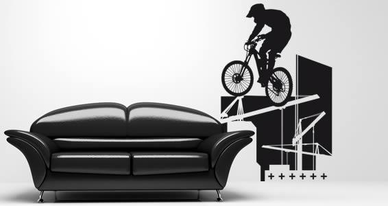 Biker wall decals