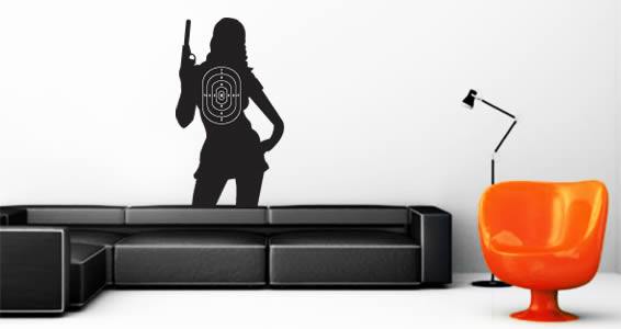 Bonnie Target wall decal