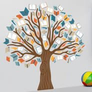 Tree of Books wall decals
