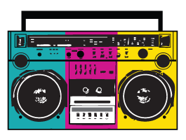 Stereo Radio wall decals