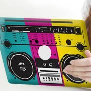 Boom Box iPad decals skin