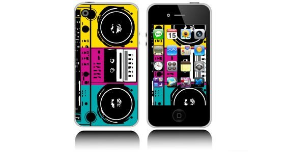 Boom Box iPhone decals skins