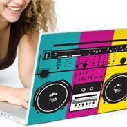 Boom Box skin laptop decals