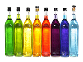 Color Bottles digital canvas photos