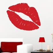 Lips and Kiss wall clings