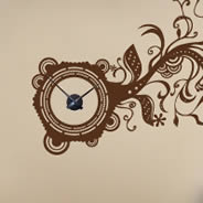 Branch Clock wall decal
