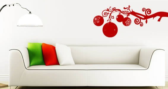 Beau Christmas Branch Wall Decals