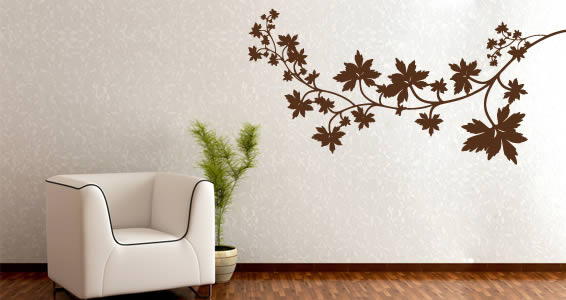 Maple Leaves wall decals