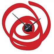 Brazilian Swirl Clock wall decal