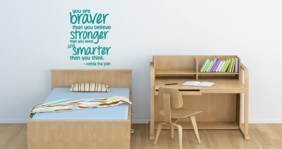Braver Stronger Smarter wall quote
