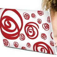 Brazilian Swirls laptop decals skin