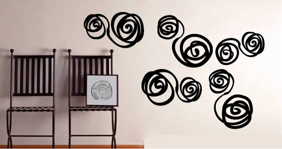Swirls modern wall stickers