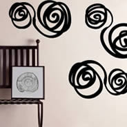 Brazilian Swirls wall stickers