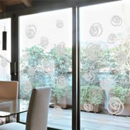 Swirls frosted window decals