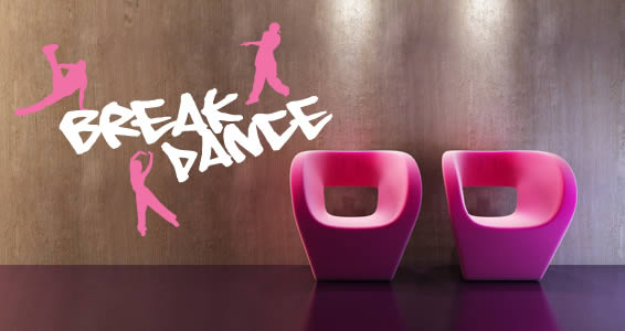 Break Dance wall decals
