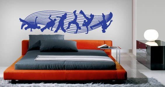 Break Dancers wall stickers