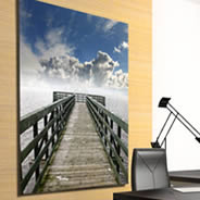 Heavenly digital photo canvas