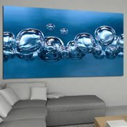 Bubble Blue high resolution photos- canvas