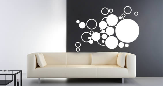 Bubble Cloud Wall Decals