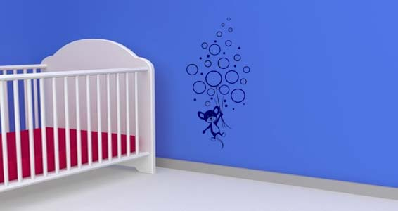 Bubble Mouse wall art decals