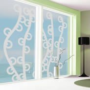Seaweed frosted window decals