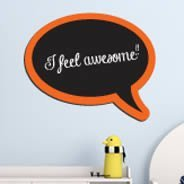 Bubble Talk Chalkboard wall applique