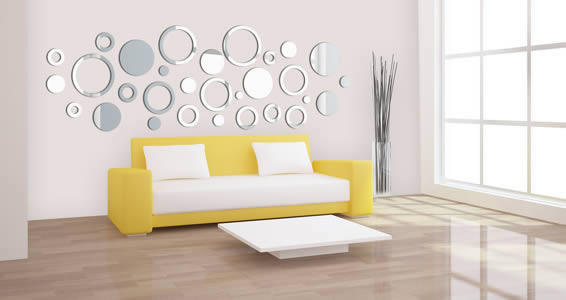 Bubbly Circles wall mirrors