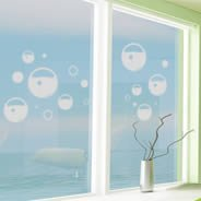 Bubble Soap frosted window decals