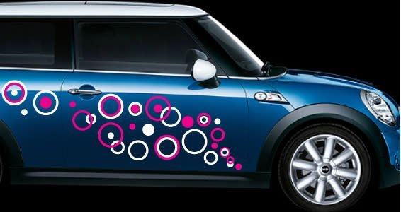 Bubbly circles car decals