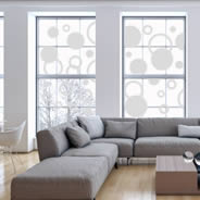Bubbles & Circles frosted window decals