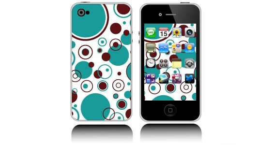 Bubbly Circles iPhone decals skin