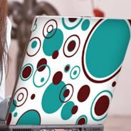 Bubbly Circles laptop decals skin