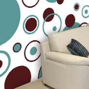 Bubbly Circles wall mural