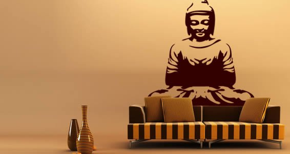 Buddha large wall decals