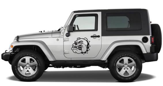Bulldog car decals