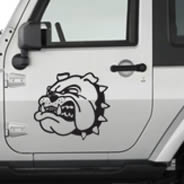 Bulldog car decals
