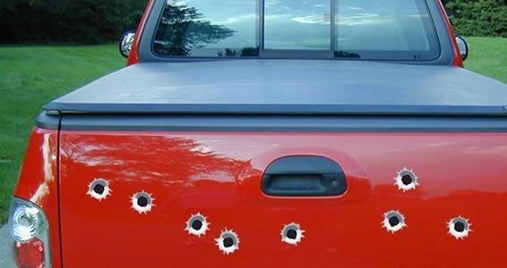 Bullet Holes car decals