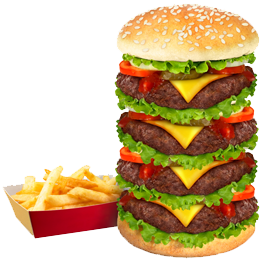 Burger Fries Stack decals